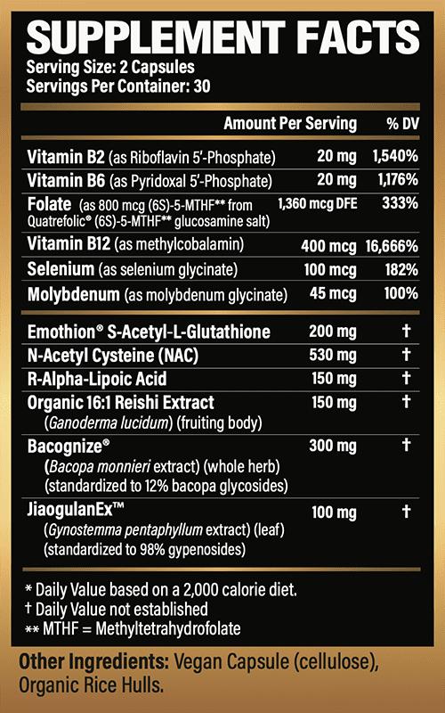 Apex Glutathione Supplement Facts